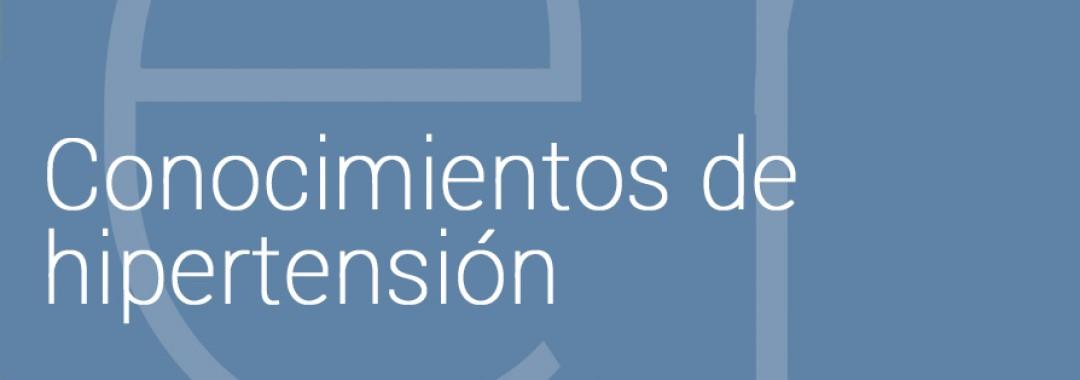 Sesión informativa para pacientes sobre conocimientos de la hipertensión
