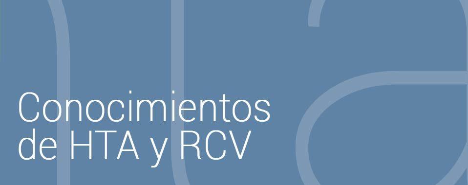 conocimientos de HTA y RCV