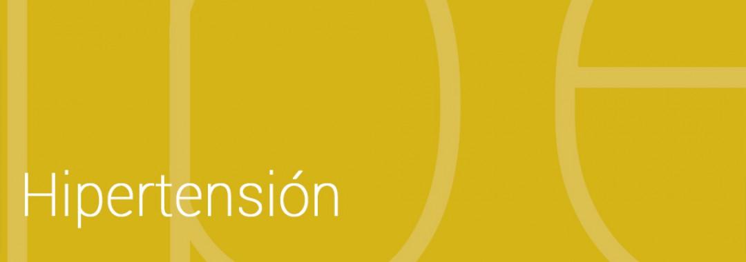 Información básica sobre la hipertensión en forma de tríptico